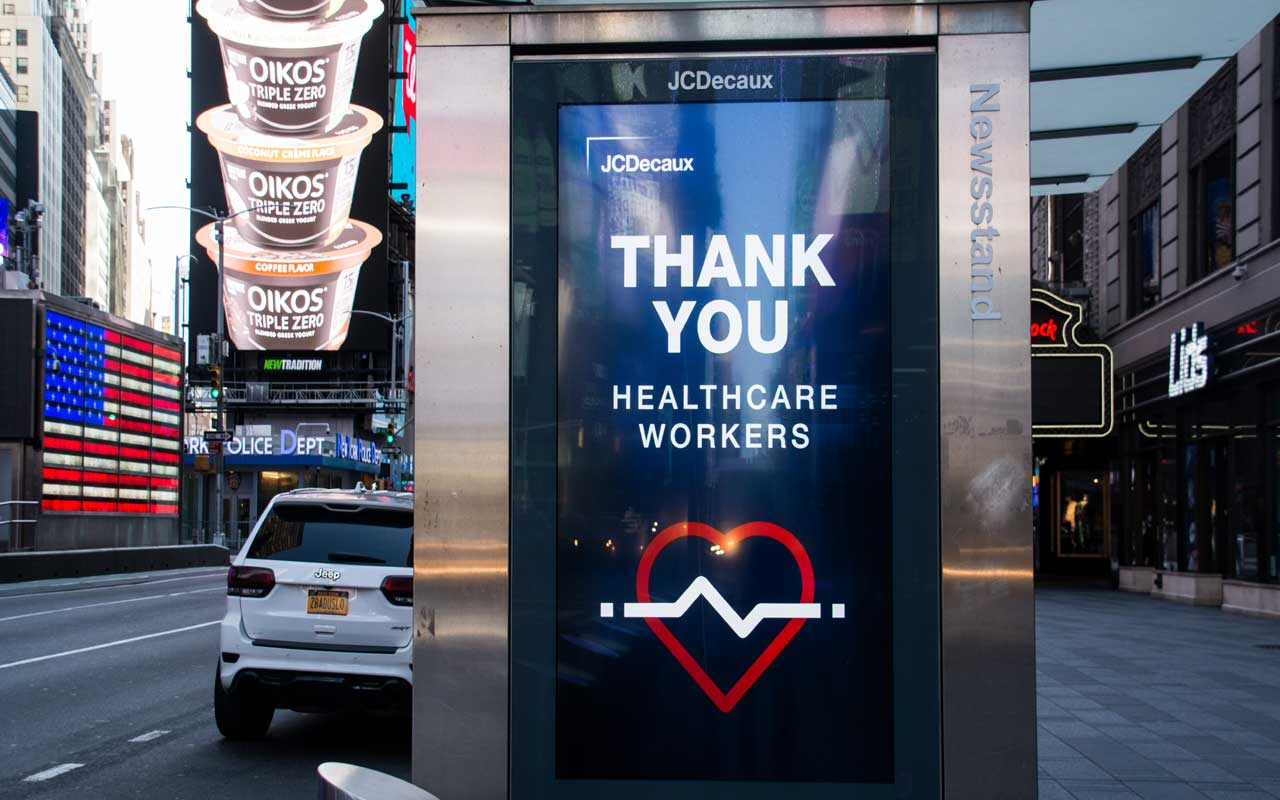 a digital sign in nyc